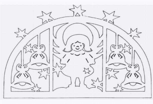 скачать новогодние трафареты на окна