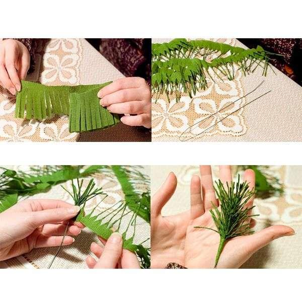 новогодние поделки из гофрированной бумаги