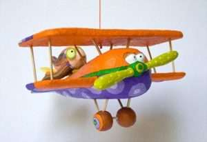 самолет папье маше