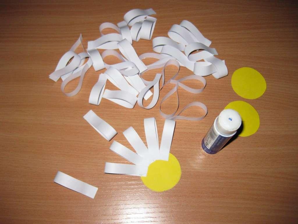 поделки из цветной бумаги для малышей