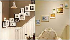 Мультирамки на стене можно расположить на разном уровне, имитируя лестницу. Такие композиции красиво смотрятся в прихожих или возле лест