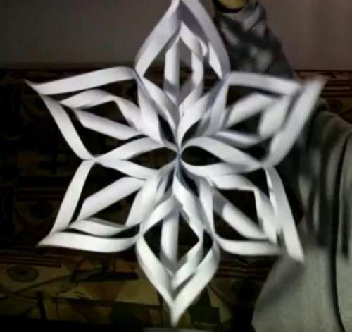 поделки на новый год оригами