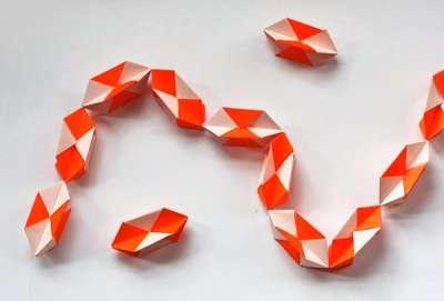 поделки оригами новогодние