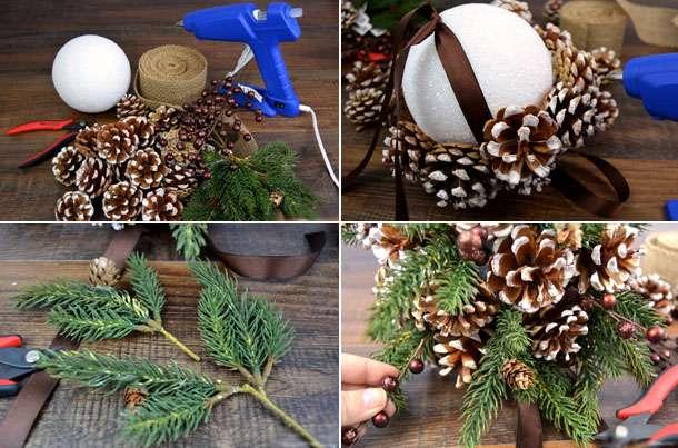 Что можно сделать из сосновых шишек к Новому году