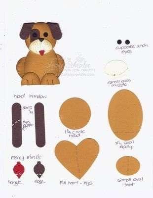 как сделать открытку собаку
