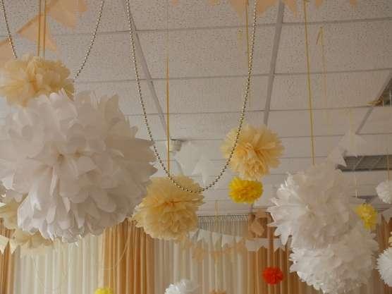 украсить зал шарами на выпускной