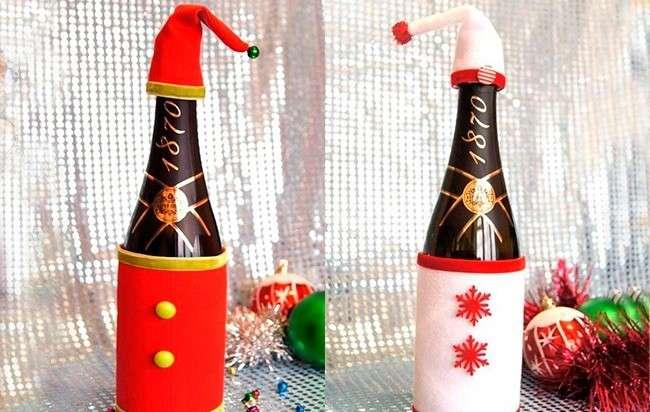 новогодние поделки из бутылки шампанского