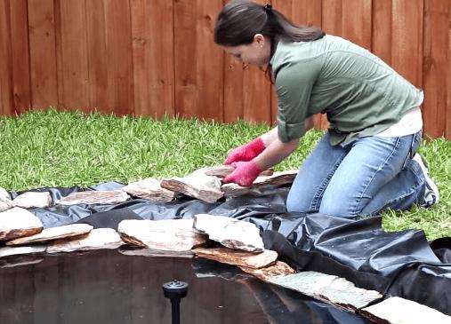 как сделать декоративный пруд своими руками