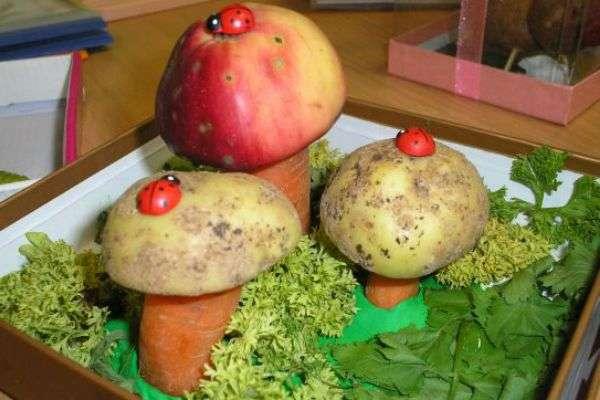 овощные поделки из овощей