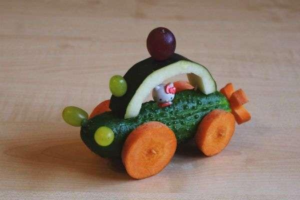 красивые поделки из овощей на выставку