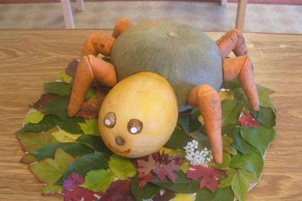 поделки животных из овощей