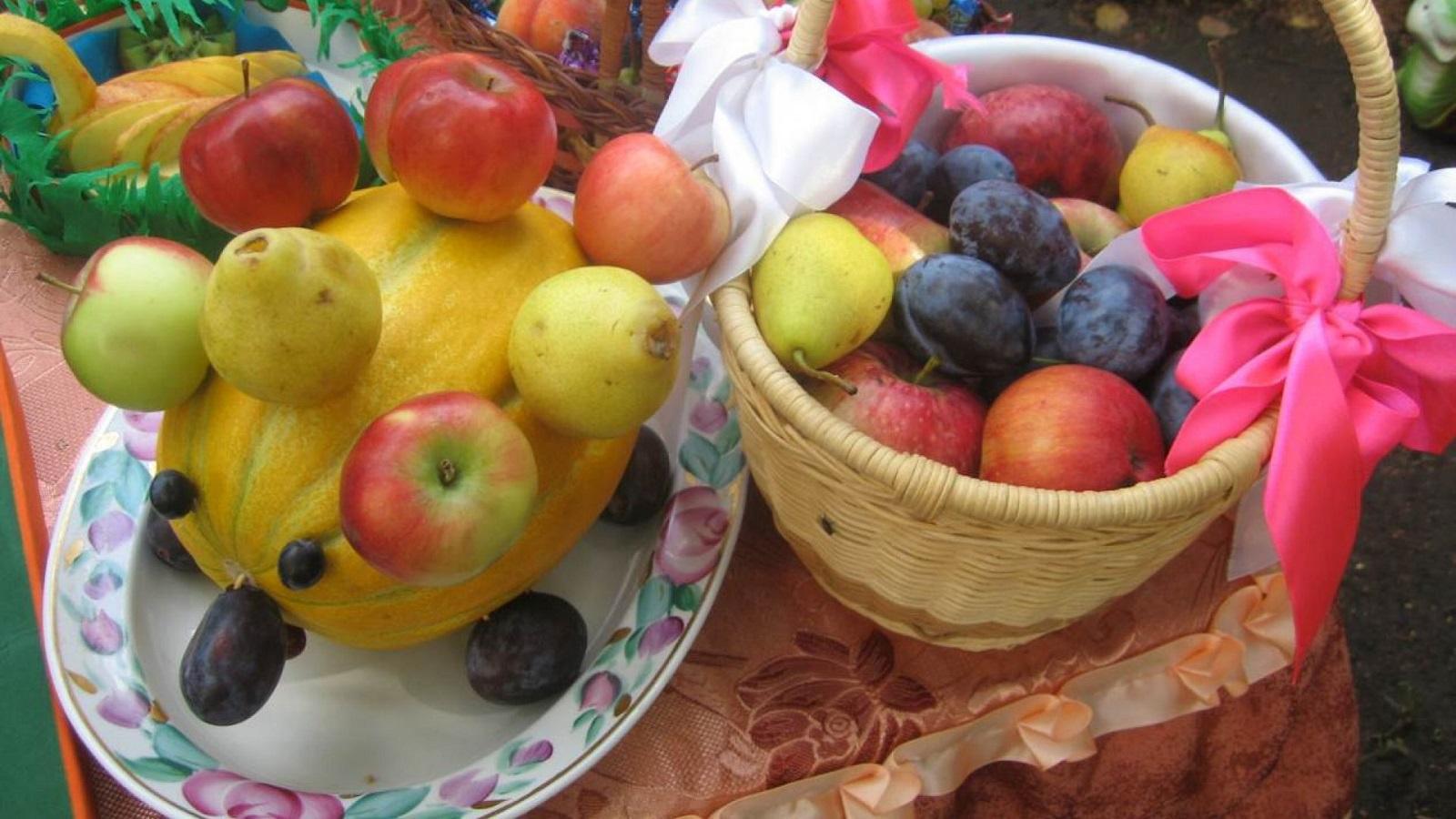 поделки на тему яблочный спас