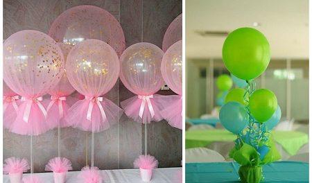 как красиво украсить шарами