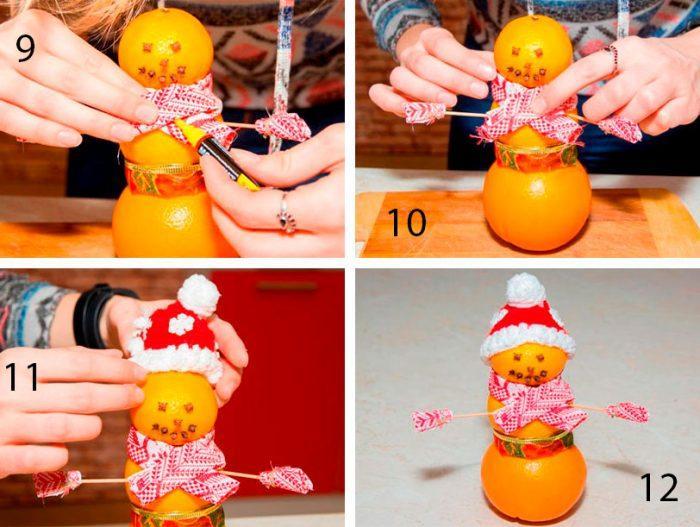 новогодний венок из мандаринов своими руками