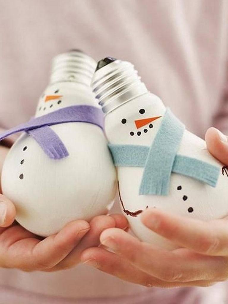 ёлочные снеговики своими руками