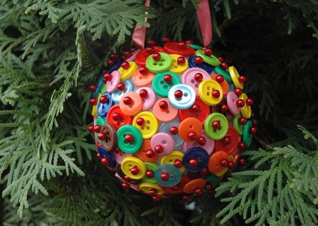 Красивый шар - елочная игрушка DIY