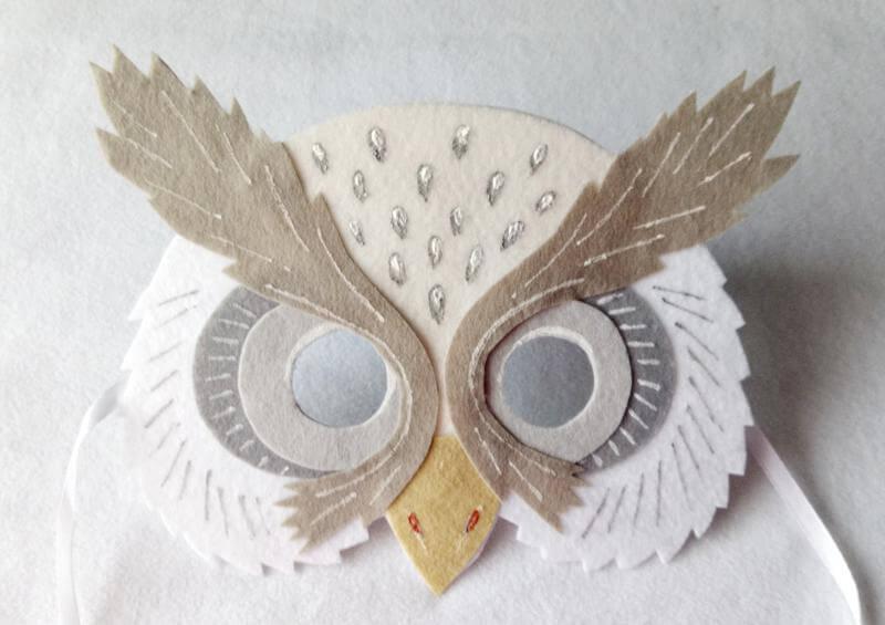 простая маска из фетра для ребенка | Svoimi-rukamy.com