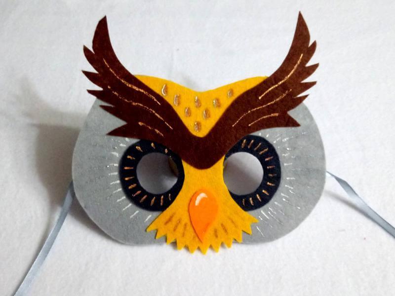 фетровая маска совы | Svoimi-rukamy.com